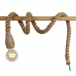 Lampe Corde Baladeuse Luminaire d'Appoint d'Ambiance en Corde 150cm