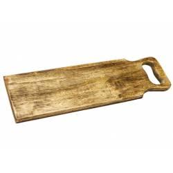 """Planche de Présentation Apéritif ou Charcuterie Inscription """" TAPAS"""" en Manguier 2,5x19,5x31cm"""