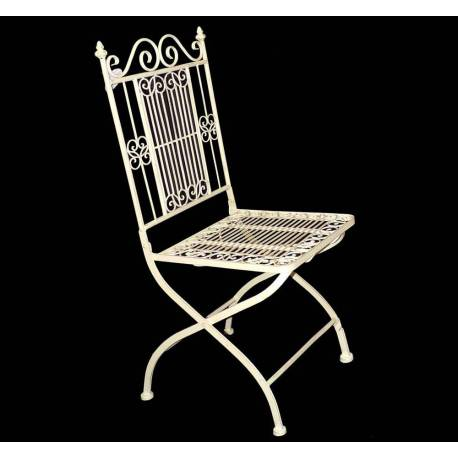 En Assise 39x39x95cm De Vanille Chaise Fauteuil Salon Extérieur Jardin Fer Intérieur Siège TwXZlPuOki