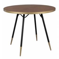 Table Denise Design Woody Table de Salle à Manger Table de Cuisine 75x91x91cm