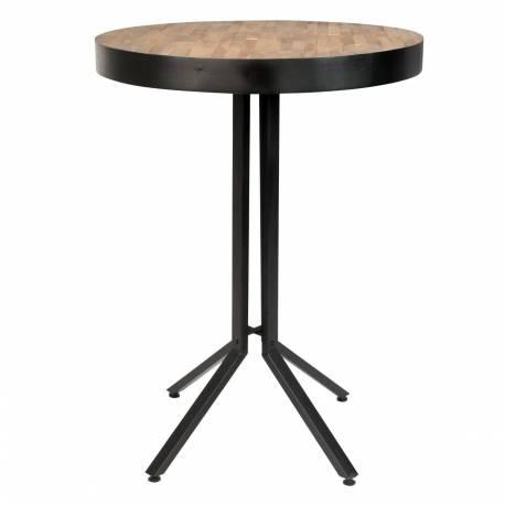 Table Haute De Bar Woody Ronde Maze Mange Debout Design Industriel