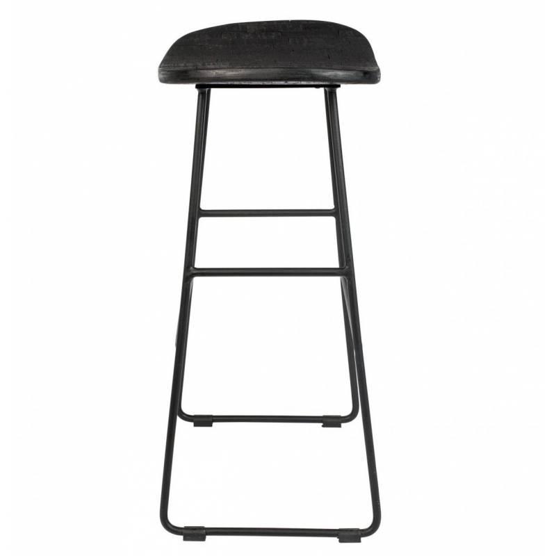 tabouret de bar tangle assise haute design woody en acier. Black Bedroom Furniture Sets. Home Design Ideas