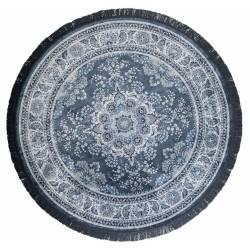 Tapis Circulaire Bodega Dutchbone Carpette Salon Fait Main Tissu 0,6x175cm