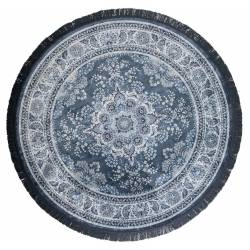 Tapis Circulaire Bodega Dutchbone Carpette Salon Tapisserie Fait Main Tissu 0,6x175cm