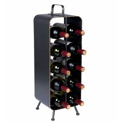 Porte Bouteilles Stalwart Casier à Vins Design Dutchbone en Acier 22x22x68cm