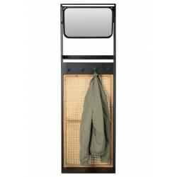 Miroir Vestiaire Porte Manteaux Langres Dressing Étagère Dutchbone en Acier 15x53x165cm