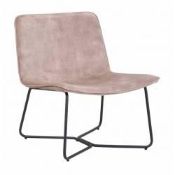 Chaise Rutano Weimar Signée Hanjel Siège de Table Velours et Métal 49x62x85,4cm