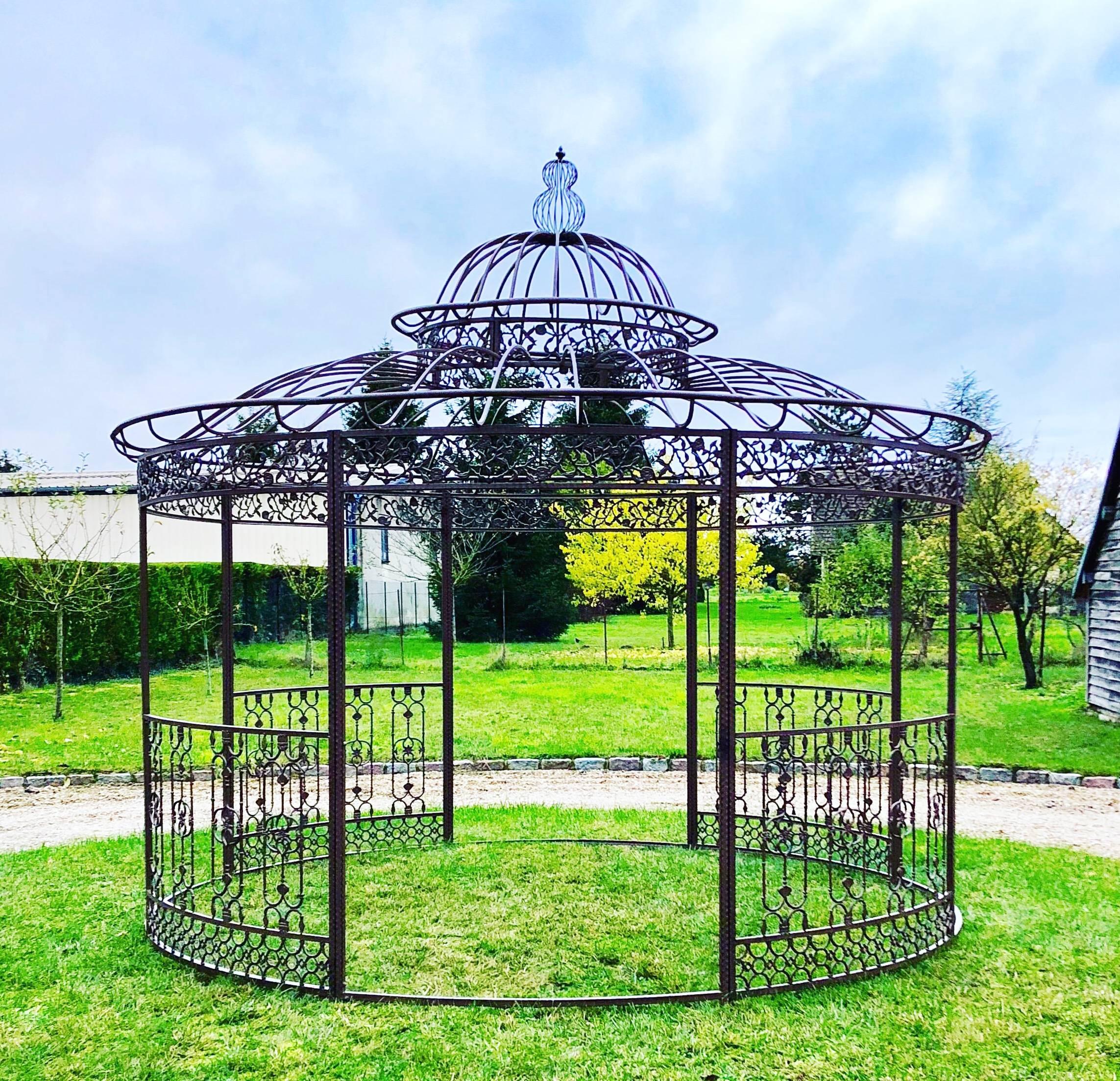 Grande Tonnelle Kiosque de Jardin Pergola Abris Rond Kiosque ...