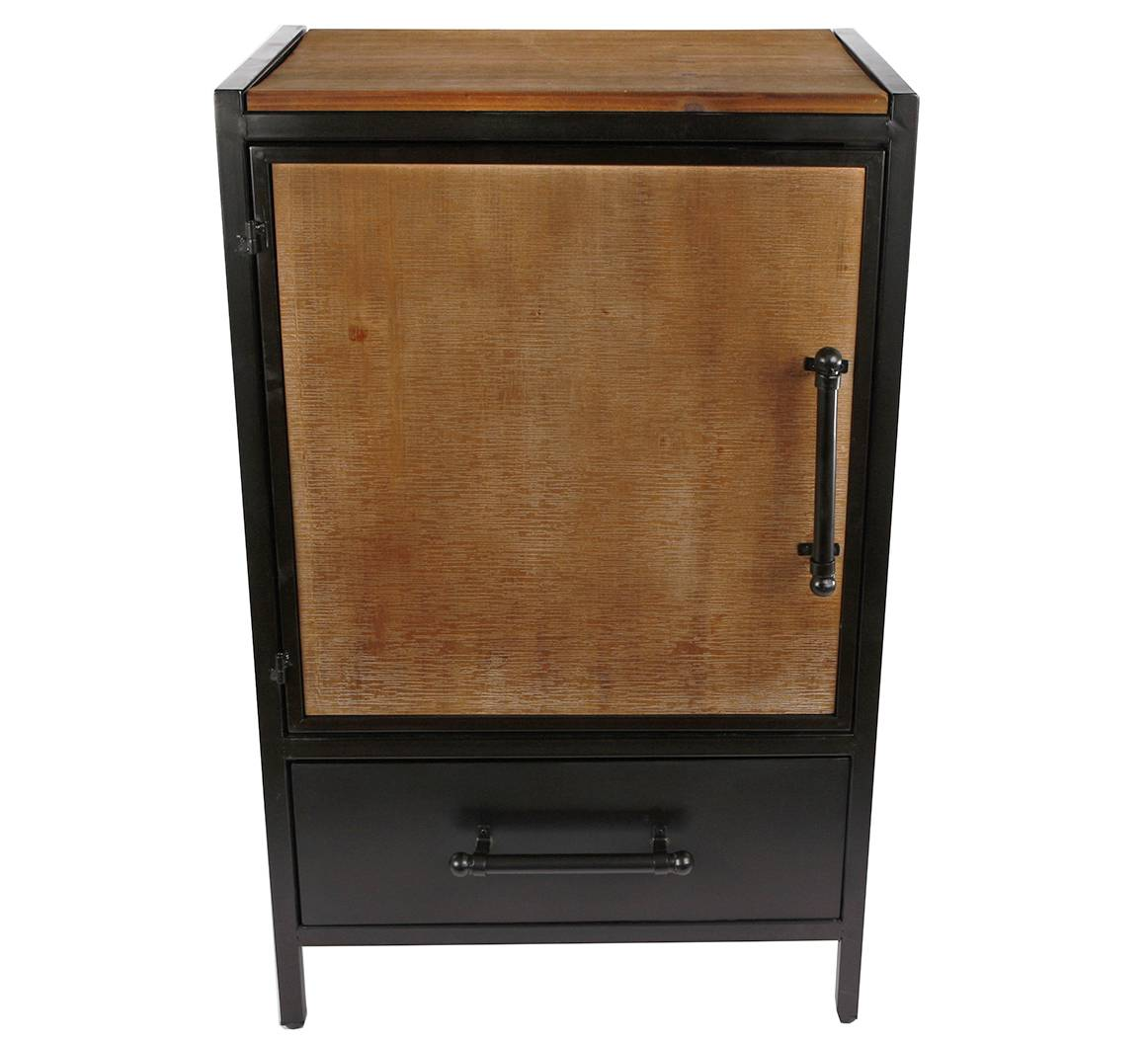 Poignée De Meuble Industrielle meuble d'appoint caisson industriel console de rangement indus petite  armoire en acier 35x50,5x81cm