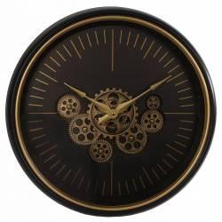 Grande Horloge Ronde Mécanisme Apparent Pendule Murale Vintage Industriel Style Usine 8x50x50cm