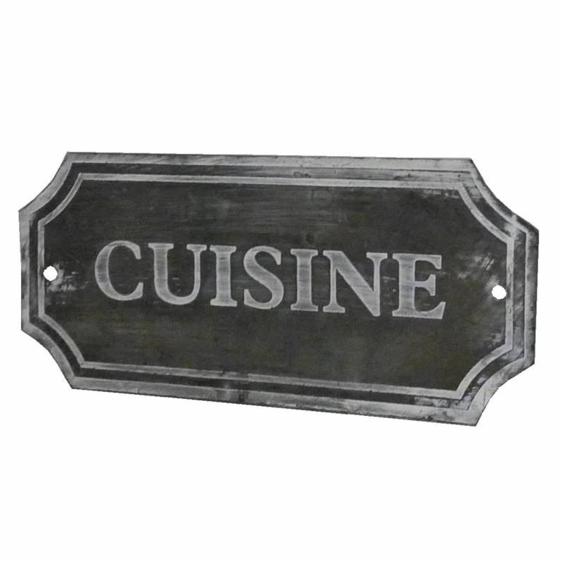 plaque d corative murale poser ecriteau avec inscription cuisine en fer pati ebay. Black Bedroom Furniture Sets. Home Design Ideas