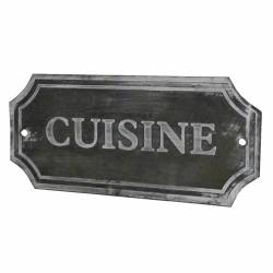 Plaque Déco Cuisine en Fer