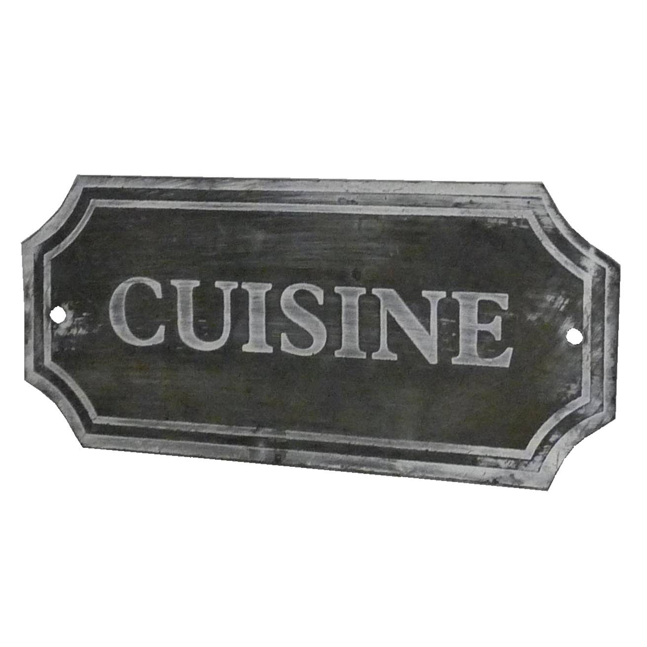 Feuille De Zinc Pour Cuisine plaque décorative murale à poser ecriteau avec inscription
