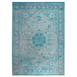 Tapis Chi Woody Carpette Salon Tissu Bleu ou Noir 0,3x160x230cm