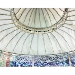Toile de Gloriette HDT11005 Ø370cm en Toile Plastifiée Couleur Ecru