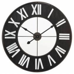 Géante Horloge Murale J-Line Pendule Indus en Métal 4,5x91,5x91,5cm