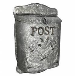 """Boite aux Lettres """"POST"""" ou Boite à Courriers Murale en Métal 10x25x40cm"""