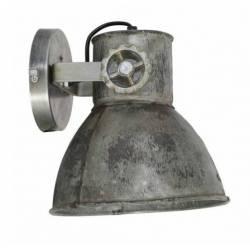 Luminaire Tendance ELAY Applique ou Plafonnier industriel Rampe 1 Spot en Bois et Métal Patiné Brun Indus 18x19x20cm