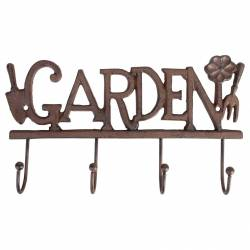 Patère Garden en Fonte Crochet Porte Manteau ou Torchon Mural 5,5x17,5x30cm