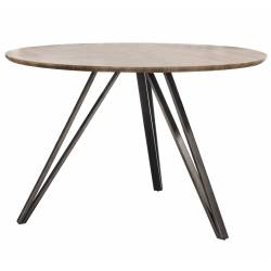 Table à Manger Hinsk Ronde Table de Repas Hinsk Design Indus 73x120x120cm