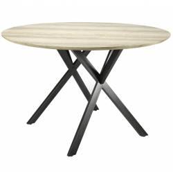 Sublime Table Jill Signée Hanjel Table de Salle a Manger Déjeuner Forme Rectangle de 10 à 14 Personnes avec Rallonge en Ac