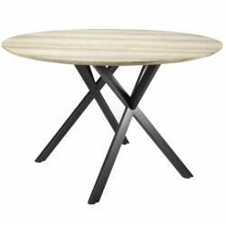 Table Ronde Hinsk Table de Repas Hinsk Design Indus 76x120x120cm