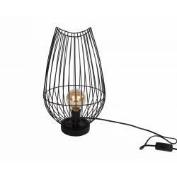 Lampe Design à Poser Luminaire de Salon en Métal Noir 25x25x43cm