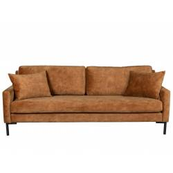 Canapé Houda Dutchbone Sofa Design 3 places Caramel 85x87x202cm