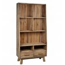 Bibliothèque Berry Hanjel Meuble de Salon Etagère de Rangement à Poser en Bois 40x90x182cm