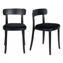 Lot de 2 Chaises Brandon Dutchbone Sièges de Table Design Noir 45x46x75cm