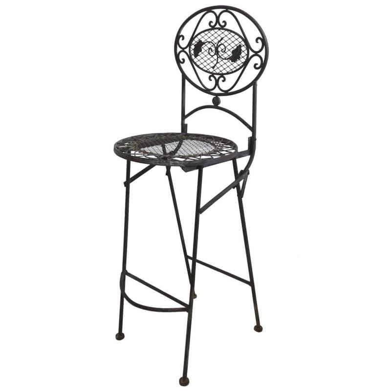 Chaise haute pliante fauteuil de bar pliable ou pour ilot for Chaise de bar pliable
