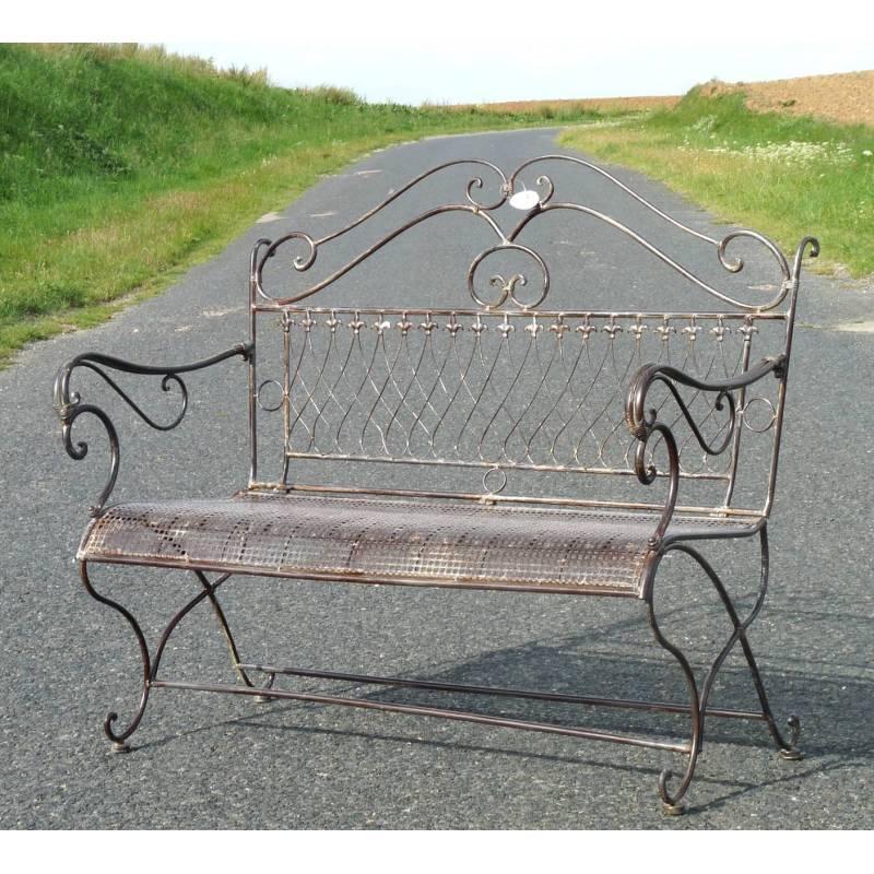 Banc de jardin banquette 2 places fauteuil assise - Banc de jardin en fer ...