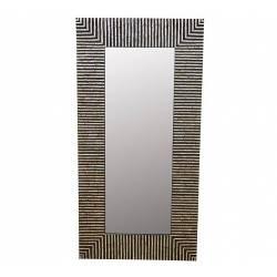 Miroir Arise Nacre Signature Trumeau Glace Rectangle en Résine et Nacre 5x85x135cm