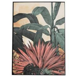 Tableau Tropical Athezza Toile Décoration Murale Coloré 4,3x104x144cm