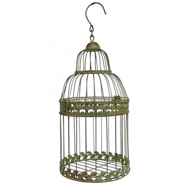 Cage Ronde en Fer Vert