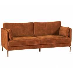Canapé Moven Fox 3 Places Athezza Sofa Fauteuil de Salon Tissu et Métal 85x88x198cm