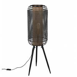 Grand Lampadaire Archer Dutchbone Lampe de Sol Eclairage d'Appoint en Métal Noir 29,5x31x91cm