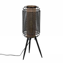 Lampadaire Archer Dutchbone Lampe de Sol Eclairage d'Appoint en Métal Noir 25,5x27x71cm