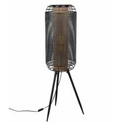Lampadaire Archer Dutchbone Lampe de Sol Eclairage d'Appoint en Métal Noir 29,5x31x91cm