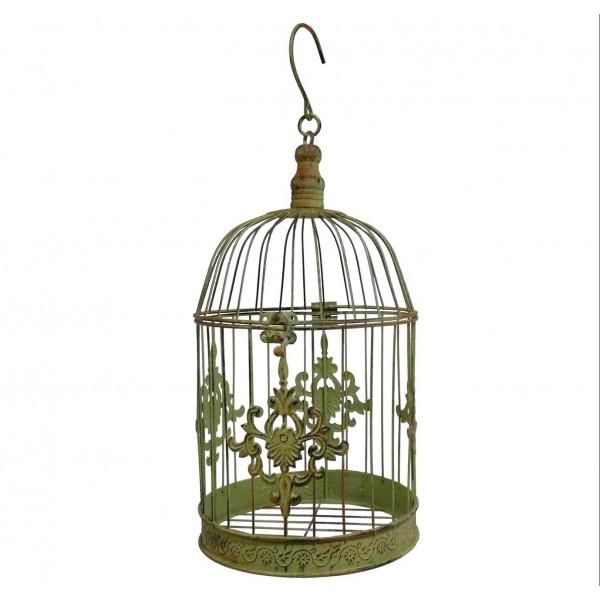 Grande Cage Décorative en Fer