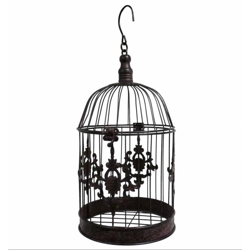 Grande cage oiseaux d corative poser ou voli re ronde for Cage a oiseaux decorative