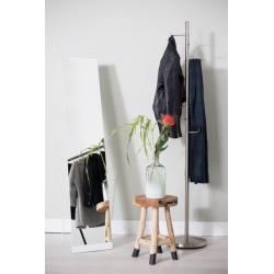 Psyché Blanc Miroir Trumeau à Poser Glace Rectangle en Acier 30,5x36,5x147,5cm
