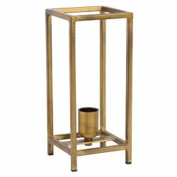Lampe de Table MARLAY Luminaire d'Appoint Tendance à Poser de Bureau de Chevet Métal Or Antique 13x13x30cm