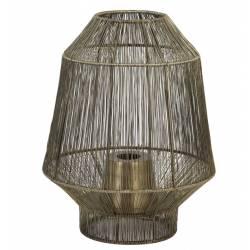 Lampe de Table Vitora Luminaire Tendance à Poser d'Appoint Lanterne à Poser en Métal Bronze Antique 30x30x38cm