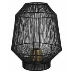 Lampe de Table Vitora Luminaire Tendance à Poser d'Appoint Lanterne à Poser en Métal Noir Mat 37x37x46cm