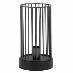 Lampe de Table Jorim Eclairage Minimaliste Luminaire d'Appoint en Métal Noir 16x16x30cm