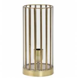 Lampe de Table Stroby Eclairage Minimaliste Luminaire d'Appoint en Métal Noir 15x15x30cm