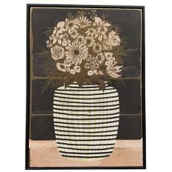 Tableau Vase Rayures Athezza Impression sur Toile Décoration Murale 50x70cm