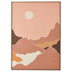 Tableau Montagnes Athezza Impression sur Toile Décoration Murale 104x144cm