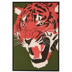 Tableau Tigre Athezza Impression sur Toile Décoration Murale 64x94cm